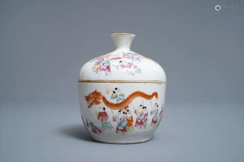 A Chinese famille rose 'spring festival' bowl and