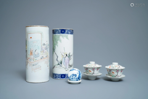 A varied collection of Chinese qianjiang cai, famille