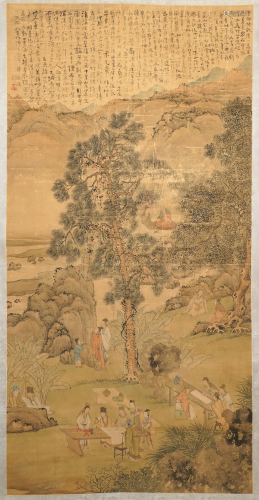 Chinese school, signed Hua Yan (1682-1756), ink and