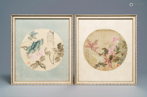Chinese school, 18/19th C., watercolour and ink on