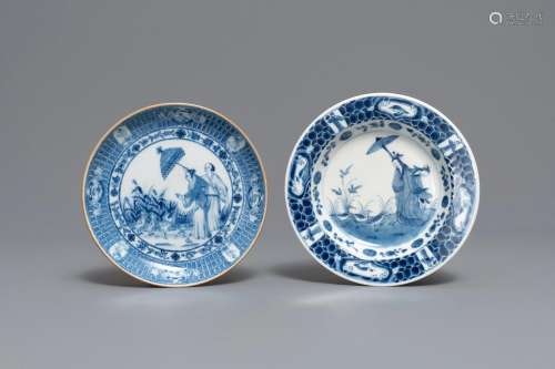 Two Chinese and Japanese plates after Cornelis …