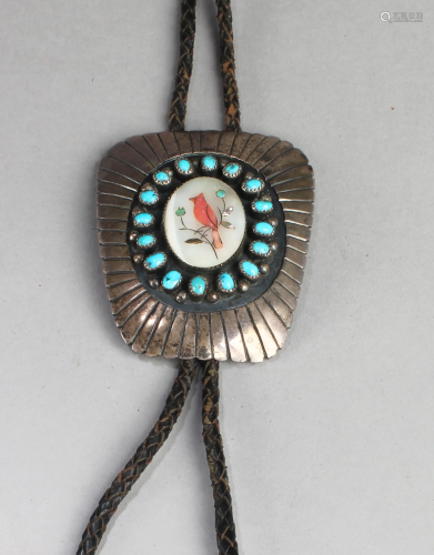 A Silver with Turquoise Stone Accessory
