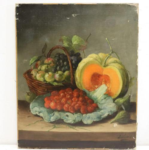 Dubois .Signed Oil On Canvas Still Life .