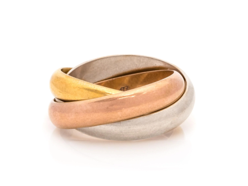 CARTIER, TRICOLOR GOLD 'TRINITY' RING