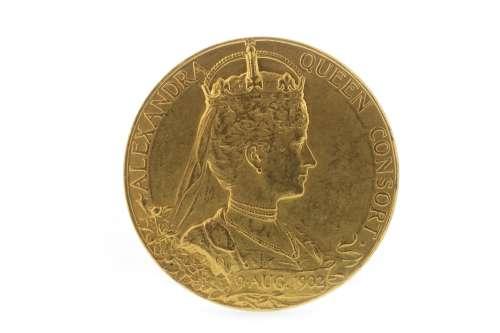 AN EDWARD VII GOLD CORONATION COIN