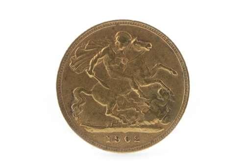 A GOLD HALF SOVEREIGN, 1902