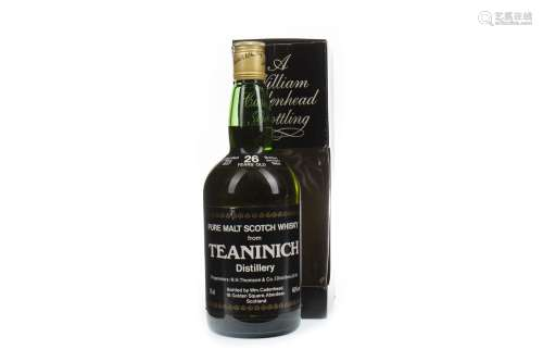 TEANINICH 1957 CADENHEAD'S 26 YEARS OLD