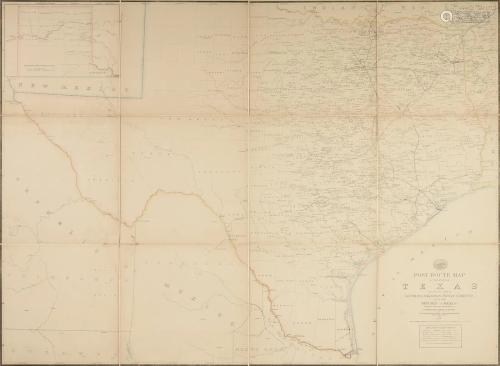 AN ANTIQUE POSTAL MAP,