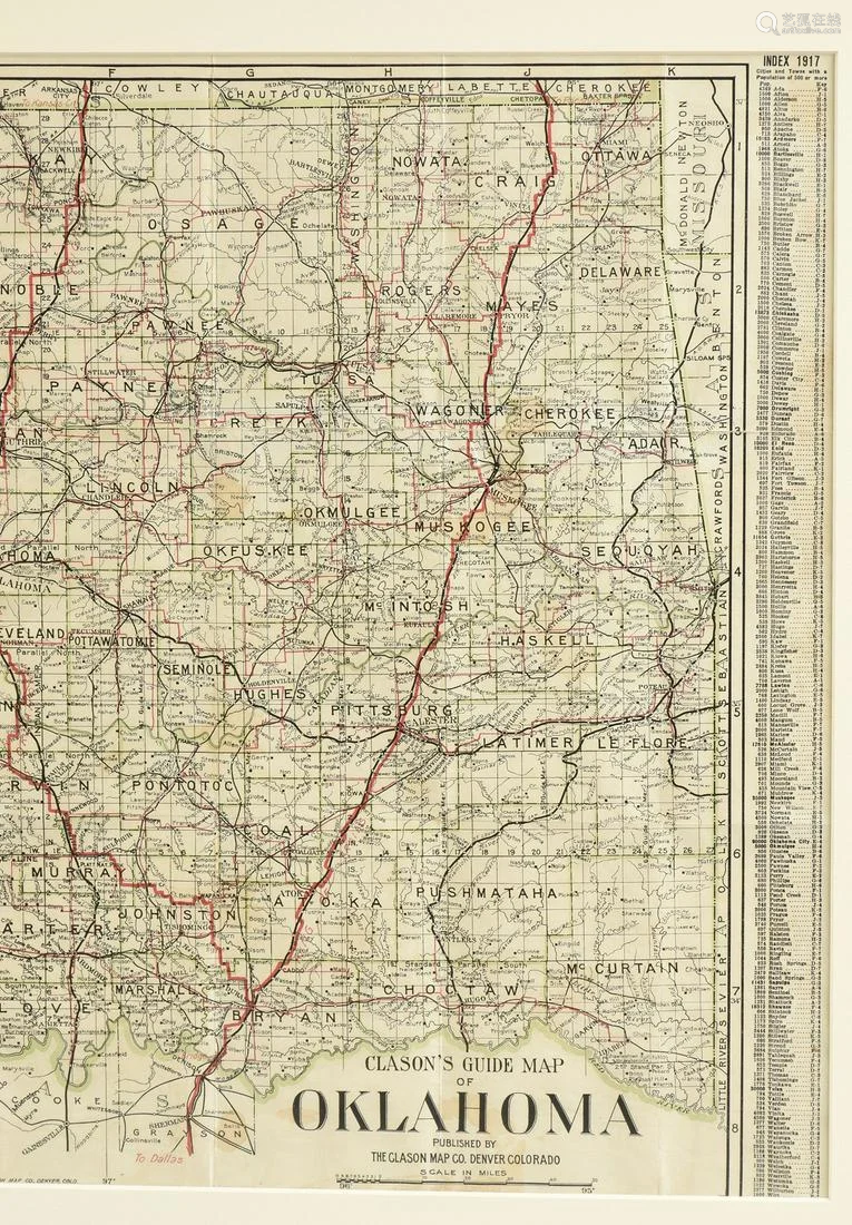 AN ANTIQUE AUTOMOBILE MAP,