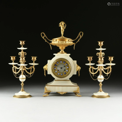 A FRENCH NEO-GREC GILT BRONZE MOUNTED WH…