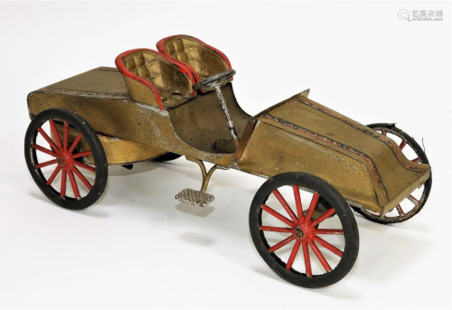Antique Tin Litho Wind Up Toy Car