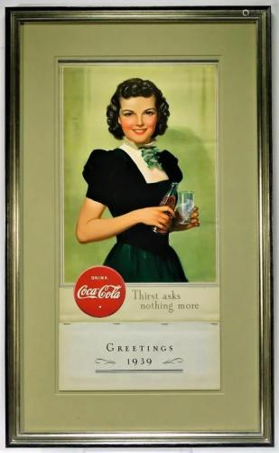 Attr. Bradshaw Crandell Coca Cola Calendar