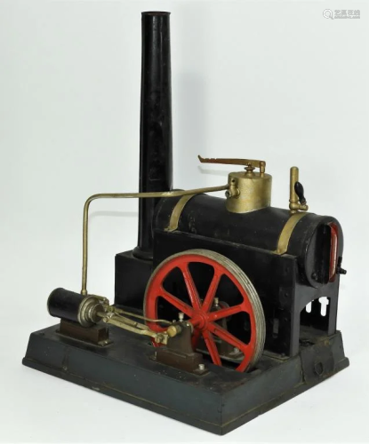 Early Antique Industrial Steam Powered Engine