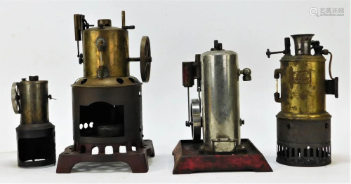4PC Weeden and Empire Upright Steam Engines
