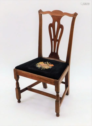 C1800 American Chippendale Transitional Side …
