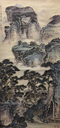 Chinese Water-Color Painting of Landscape