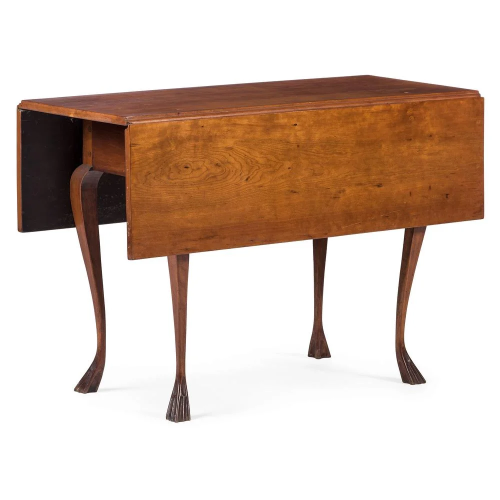 A Chippendale Style Cherrywood Double Drop-Leaf …