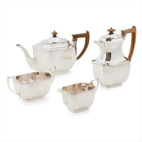 A matched 1930s four piece tea service.