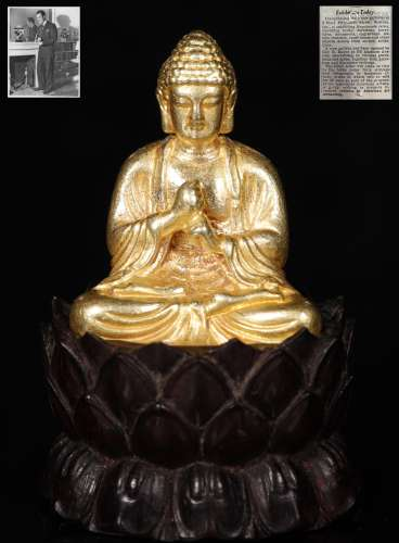 Qing Dynastyy - Pure Gold Buddha Statue