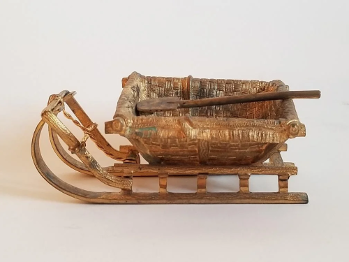 Antique Russian Bronze Sled