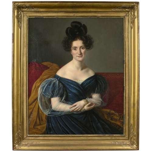 Attribué à Louis HERSENT (1777 1860) Portait de da…