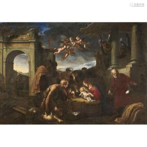École ITALIENNE du XVIIe siècle La nativité Toile …