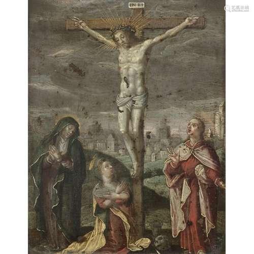 École flamande du XVIIe siècle La Crucifixion entr…