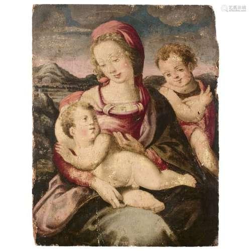 École FLORENTINE du XVIe siècle Vierge à l'Enfant …