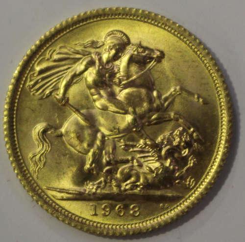 An Elizabeth II sovereign 1968.