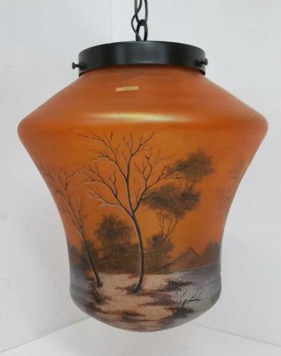 Antique Art Glass Bohemian Czech Label Chand…