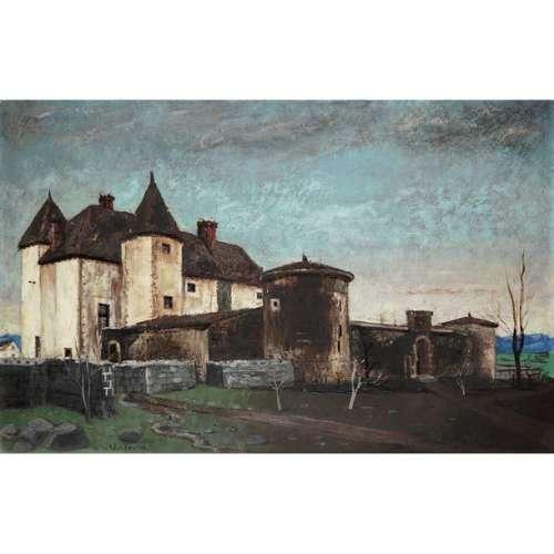 HENRY DE WAROQUIER (1881 1970) CHÂTEAU FERME EN BO…