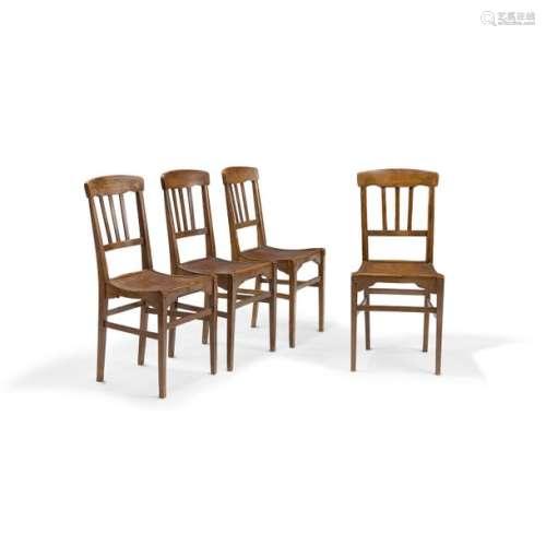 LOUIS SÜE (1875 1968) Suite de quatre chaises d'in…
