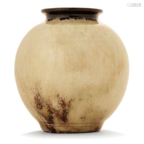ÉMILE DECOEUR (1876 1953) Vase sphérique en grès s…