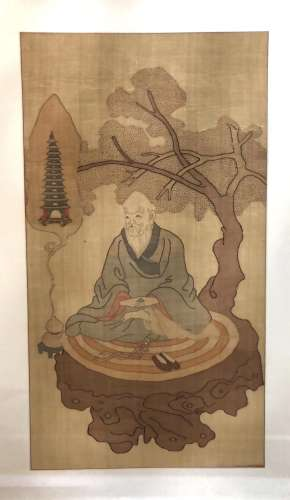 A Chinese Bodhidharma Painting