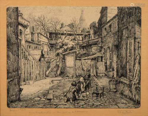 Victor Dominique BATARD (1890 1982) Montmartre, ru…