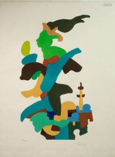 Charles LAPICQUE (1898 1988) Untitled Lithograph i…