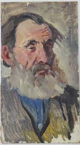 Alexander Mikhailovich Gegunov, 1965, Ukrainian / Russian School, Oil on board, 'Old Man',