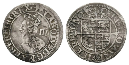 Charles I - York - Threepence