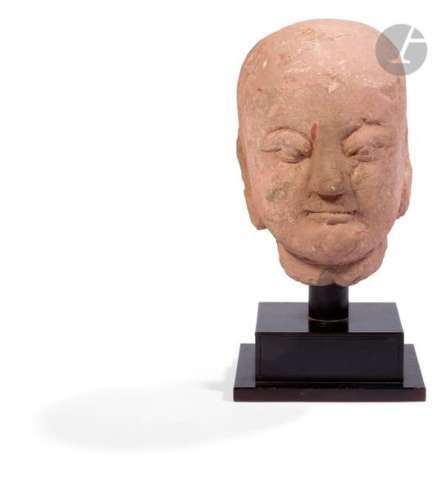 CHINE Époque MING (1368 1644) Grande tête de Luoha…