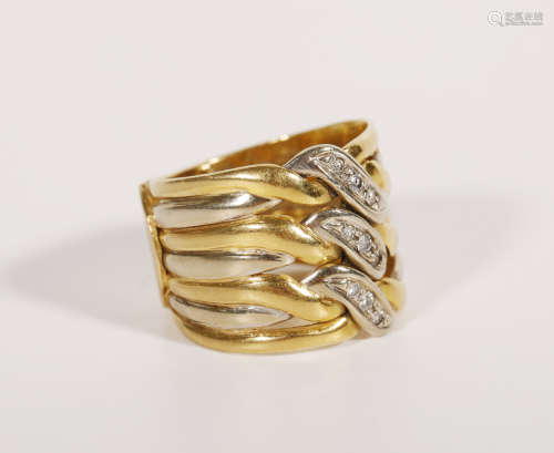 An 18K Gold Antique Ring from Italy