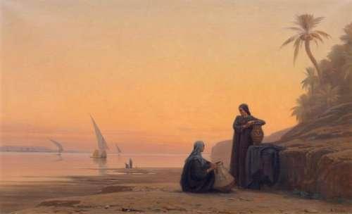 AUGUSTE LOUIS VEILLON (Bex 1834–1890 Geneva) Women…