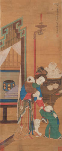 Qing Dynasty Leng Mei Painting