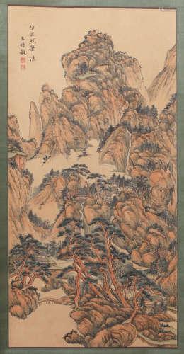 Qing Dynasty Wang Shimin Painting