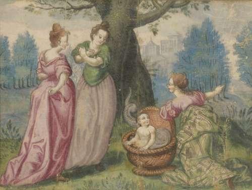 XVIIth century FRENCH school Three women, Hercules…