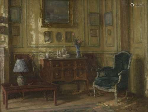 Léonce de JONCIÈRES (1871 1947) The boudoir Inside…