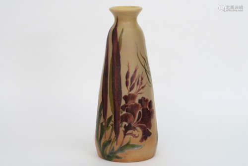 LEGRAS Art Nouveau vase in comedy glass paste with…