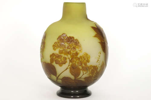 GALLÉ ÉMILE (1846 1904) Art Nouveau vase in multi …