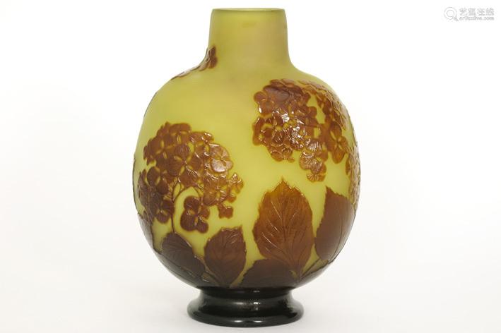 GALLÉ ÉMILE (1846 1904) Art Nouveau vase in multi …