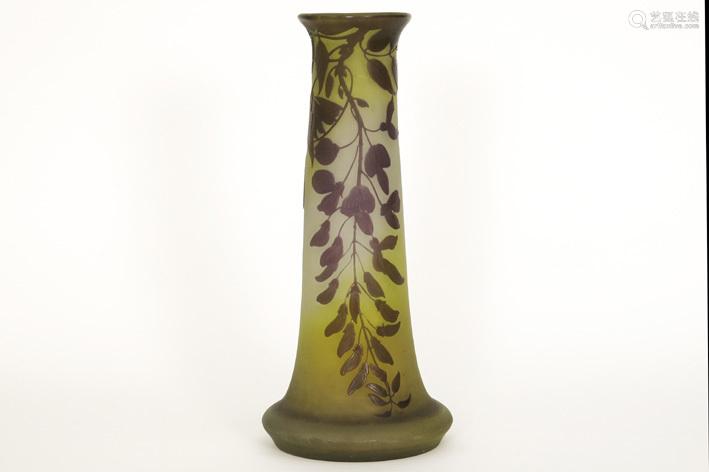 GALLÉ with star (1904 1914) Art Nouveau vase in mu…
