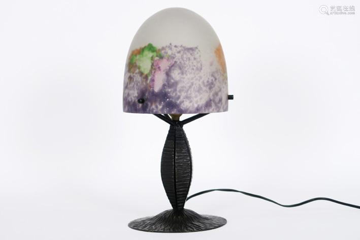 MÜLLER frêres LUNEVILLE mushroom shaped Art Deco l…